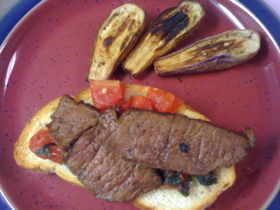 Beef Bruschetta with Fairy Tale Eggplants