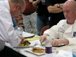 Judges tasting the final round.