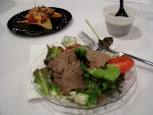 London Broil Steak Salad from Hilton of Little Rock, and Wild Mushroom Soup and Tuna Tartare from The Peabody Hotel.