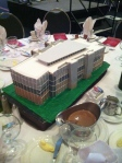 Faux cake depicting the new building for PTC Arkansas Culinary School