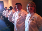 The PTC culinary students line up to greet Diamond Chef attendees. That's me at the end. (Thanks to Cary Jenkins of the ADG for offering to take the photo!)