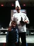 Diamond Chef 2012 winner Jason Knapp with his son Taylor.