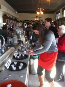 Visitors got to chime in on Loblolly's new flavors in a tasting party today.