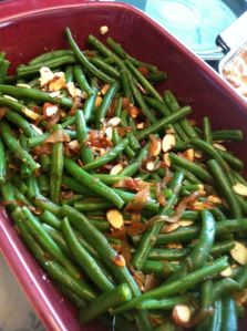 Photo added after-the-fact of the green bean and caramelized onion dish at Easter brunch.