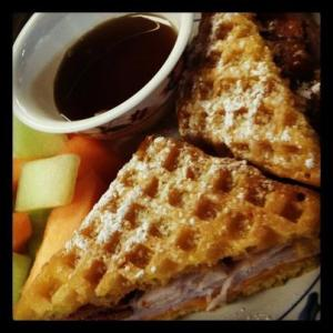 Waffle Melt sandwich from Dogtown Coffee and Cookery
