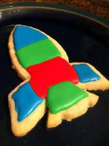 Gluten free sugar cookie I made in the midst of the oncoming storm. Bring it on.