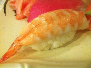 Shrimp nigiri. This one's for you, K-Shay.