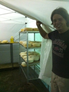 "Kent shows us the ""caves"" of aging cheese."