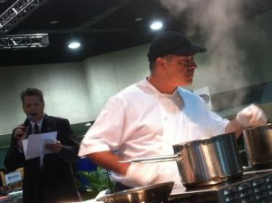 Chef Marc Guizol of Capitol Hotel in Heat #5 on Thursday.