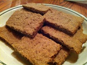 Gluten free, xantham gum free graham crackers.