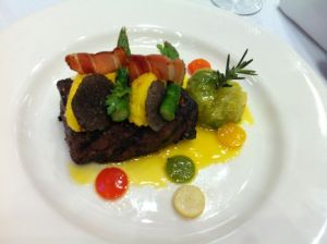 Winning dish by Chef Marc Guizol of the Capital Hotel.