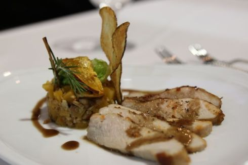 Final dish by Marc Guizol of Capital Hotel